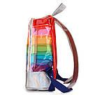 Прозрачный рюкзак в полоску оранжевый., фото 3