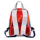 Прозрачный рюкзак в полоску оранжевый., фото 4
