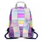 Прозрачный рюкзак в полоску серебро., фото 3