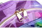 Прозрачный рюкзак в полоску серебро., фото 5
