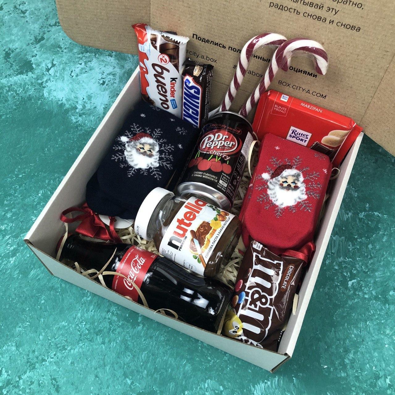 Подарочный Бокс City-A Box #63 для Мужчин и Женщин Набор Новый Год из 10 ед.