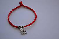 """Браслет красная нить от сглаза с талисманом """"Клевер - четырехлистный"""" - символ энергии и любви"""