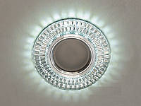 Встраиваемый светильник с светодиодной подсветкой 2091B-WH+BL
