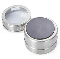 Набор баночек для специй и приправ на магнитной подставке Benson BN-187 (2 шт)   спецовник Бенсон   солонка перечница, фото 1