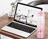 Термос из нержавеющей стали Benson BN-083 (350 мл) розовый | термочашка Бенсон | термокружка Бэнсон, фото 6
