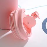 Термокружка из нержавеющей стали Benson BN-129 (510 мл) розовая   термочашка Бенсон   термос Бэнсон, фото 6