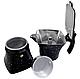 Гейзерная кофеварка из литого алюминия на 3 чашки Benson BN-147 черная | турка Бенсон, Бэнсон, фото 3