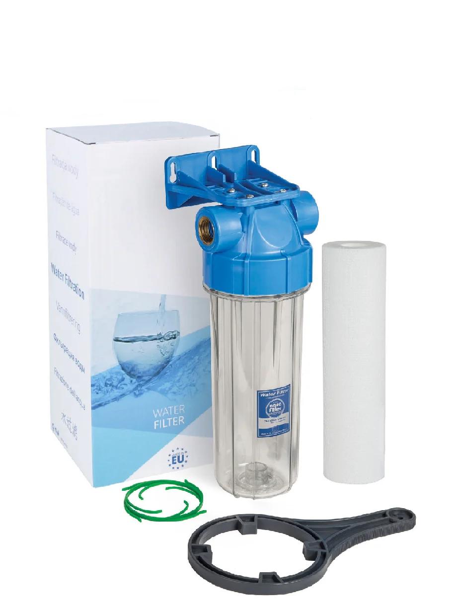 """Корпус фільтра для холодної води 10"""" AquaFilter FHPR1-B1-AQ 1"""" комплект"""
