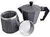Гейзерная кофеварка мока из литого алюминия на 3 чашки Benson BN-158 | турка Бенсон, Бэнсон, фото 2