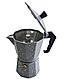 Гейзерная кофеварка мока из литого алюминия на 3 чашки Benson BN-158 | турка Бенсон, Бэнсон, фото 3
