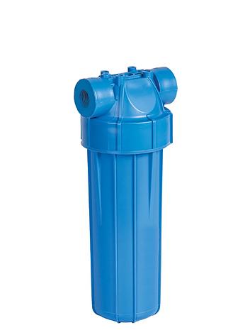 """Корпус фільтра для холодної води 10"""" AquaFilter FHPLN34-D 3/4"""" синя колба, фото 2"""