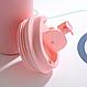 Термокружка из нержавеющей стали Benson BN-128 (380 мл) розовая | термочашка Бенсон | термос Бэнсон, фото 6