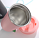 Термокружка из нержавеющей стали Benson BN-128 (380 мл) розовая | термочашка Бенсон | термос Бэнсон, фото 8