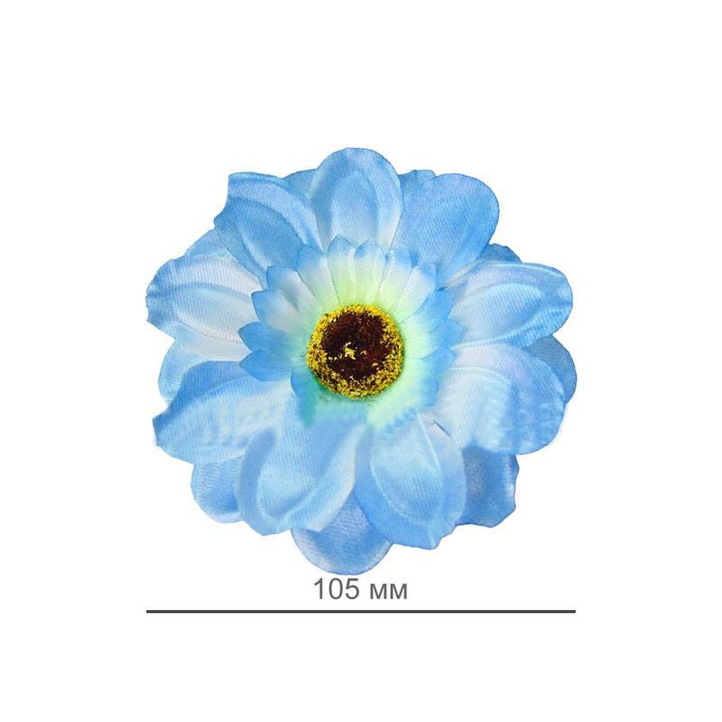 """Искусственный цветок """"Ромашка""""  атласная  ткань 105 мм микс расцветок"""