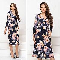 Платье с цветами 200052 : 42-44, 46-48