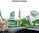 Автодержатель HOCO (CA5) черно/желтый  для телефона с присоской  Автомобильный держатель, фото 3