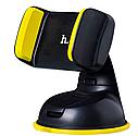 Автодержатель HOCO (CA5) черно/желтый  для телефона с присоской  Автомобильный держатель, фото 4