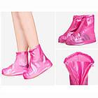 Водонепроникні чохли на взуття багаторазові бахіли для захисту взуття від дощу і бруду ОПТ, фото 4
