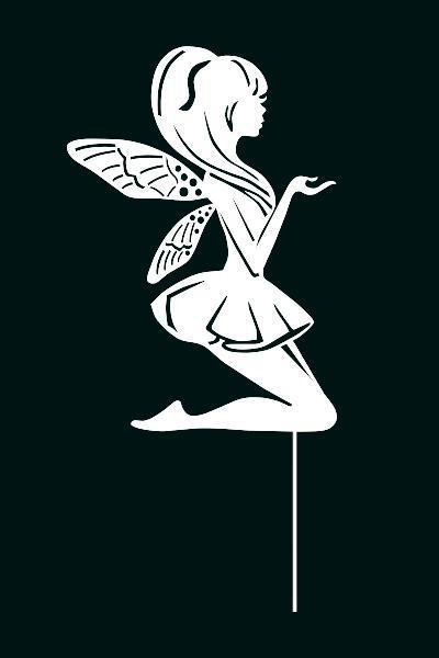 Топпер фея с крыльями , украшение на торт, бежевые топпера Fortune3D