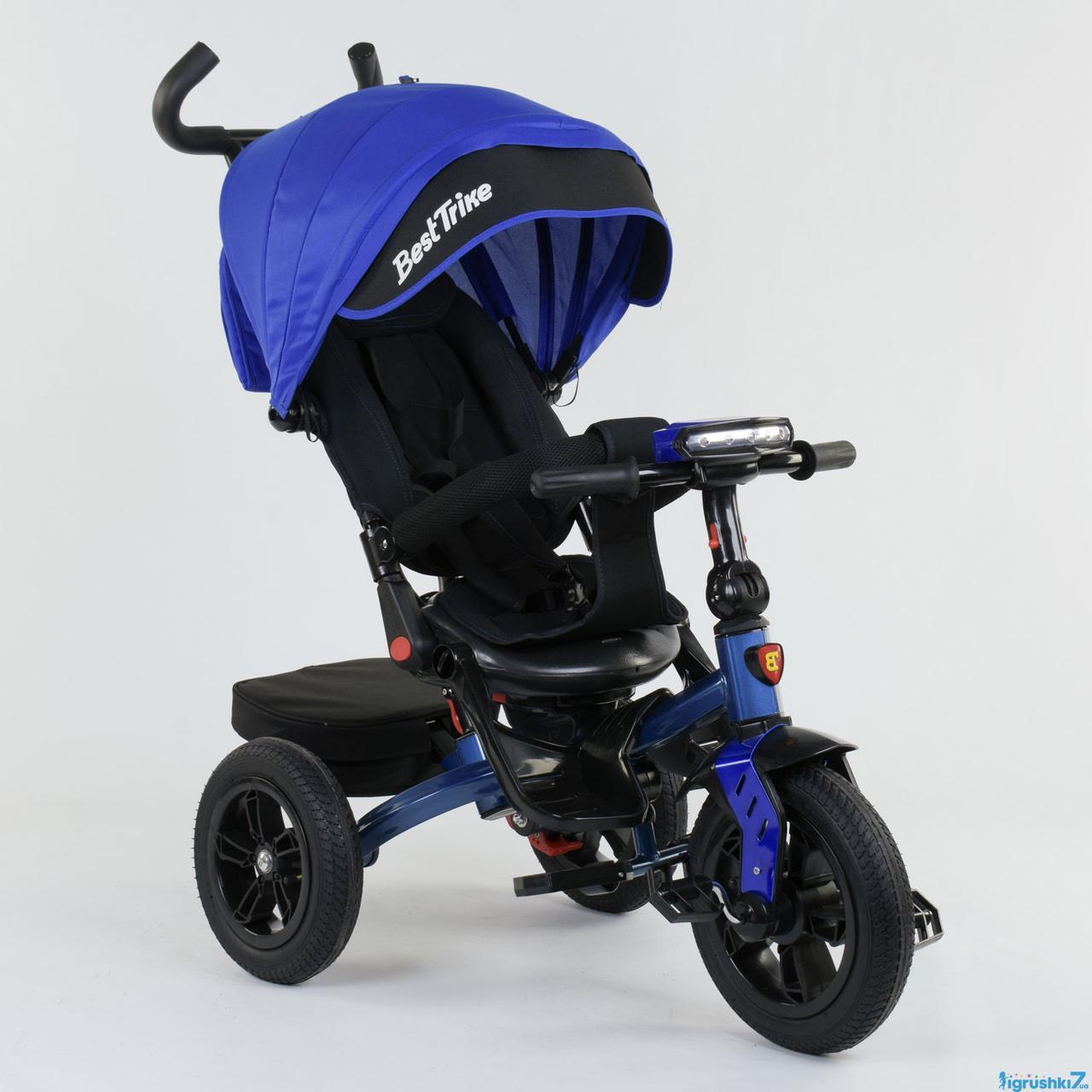 Детский трехколесный велосипед BEST TRIKE 9500 7820 (фара, музыкальная панель, поворотное сидение)