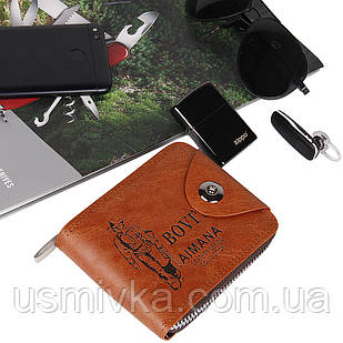 Портмоне мужское Fashion бумажник коричневое 5422206