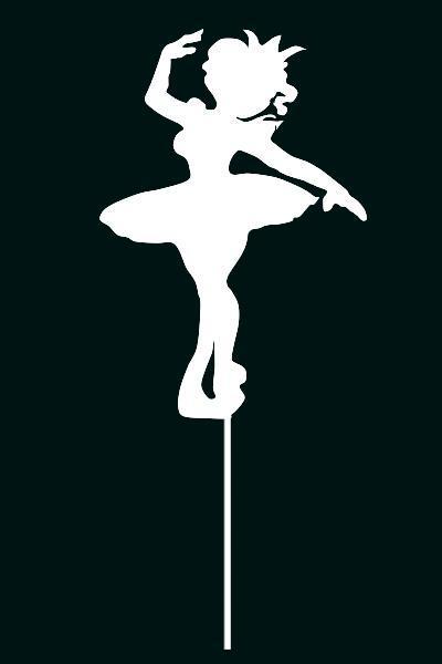 Топпер балеринка танцующая , Украшения на торт ОПТ/Розница