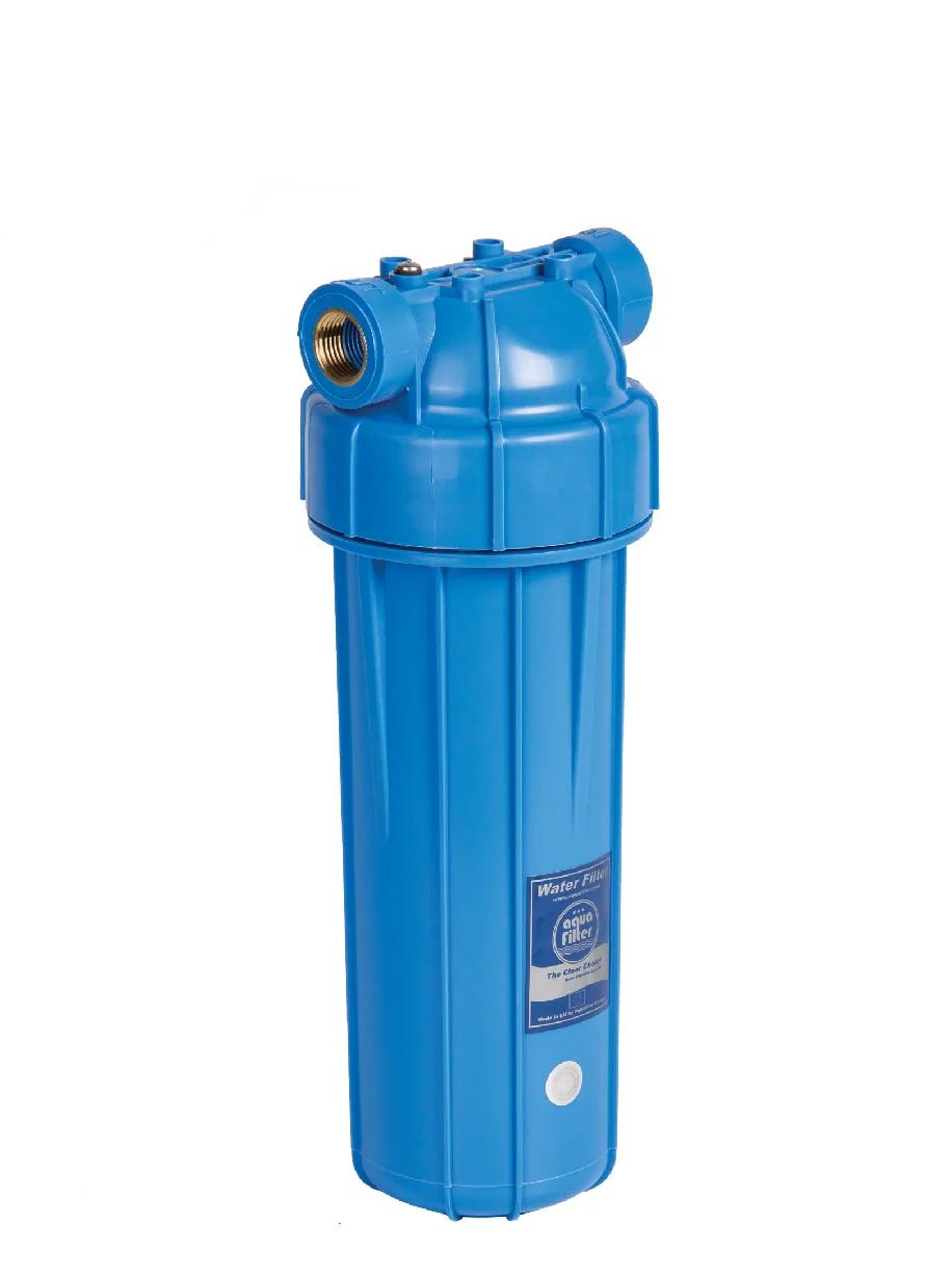 """Корпус фильтра для холодной воды 10"""" AquaFilter FHPRN12 1/2"""" синяя колба"""