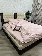 Комплект постельного  белья Страйп Сатин полоска Пудра
