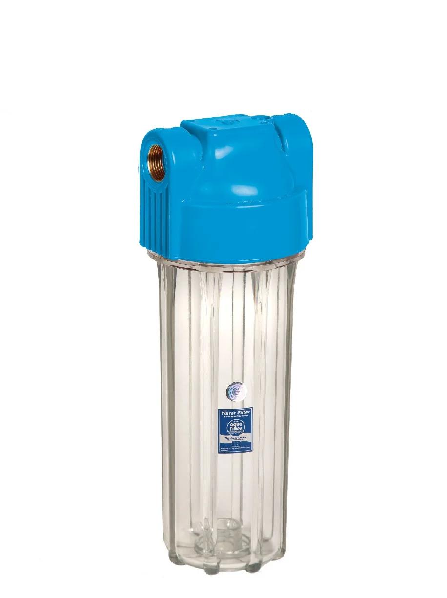 """Корпус фільтра для холодної води 10"""" AquaFilter FHPR34-HP-S 3/4"""" посилений"""