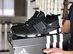 Чоловічі замшеві кросівки Adidas (чорно-білі) 9130, фото 2