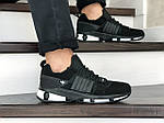 Чоловічі замшеві кросівки Adidas (чорно-білі) 9130, фото 3