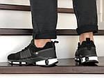 Чоловічі замшеві кросівки Adidas (чорно-білі) 9130, фото 4