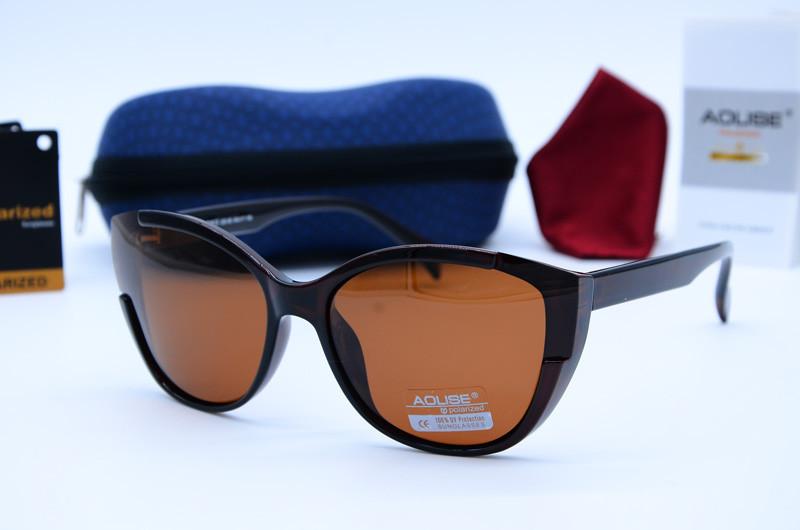Женские солнцезащитные очки бабочки Aolise коричневые 4412 А320-90