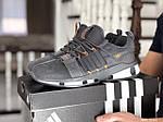 Мужские замшевые кроссовки Adidas (серые) 9131, фото 2