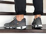 Мужские замшевые кроссовки Adidas (серые) 9131, фото 3