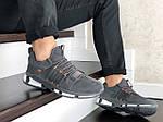 Мужские замшевые кроссовки Adidas (серые) 9131, фото 4