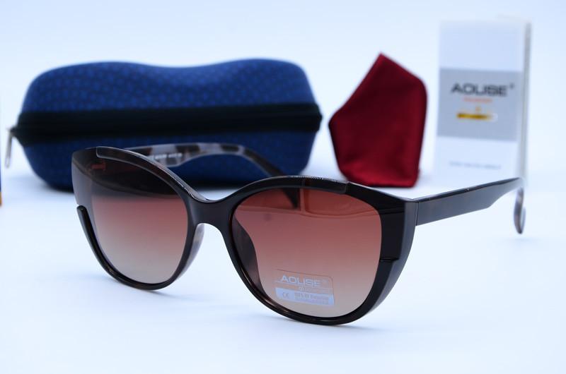 Жіночі сонцезахисні окуляри метелики Aolise коричневі 4412 А619-Р87