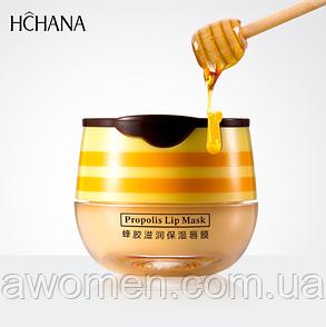 Маска для губ Hchana Propolis Lip Mask с прополисом  5,5 g