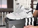 Чоловічі замшеві кросівки Adidas (світло-сірі) 9133, фото 2