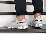 Чоловічі замшеві кросівки Adidas (світло-сірі) 9133, фото 4
