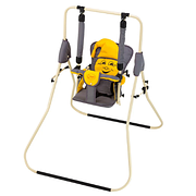 Детская каркасная напольная качель Умка Casper - ремни безопасности, складывается, 2 положения спинки