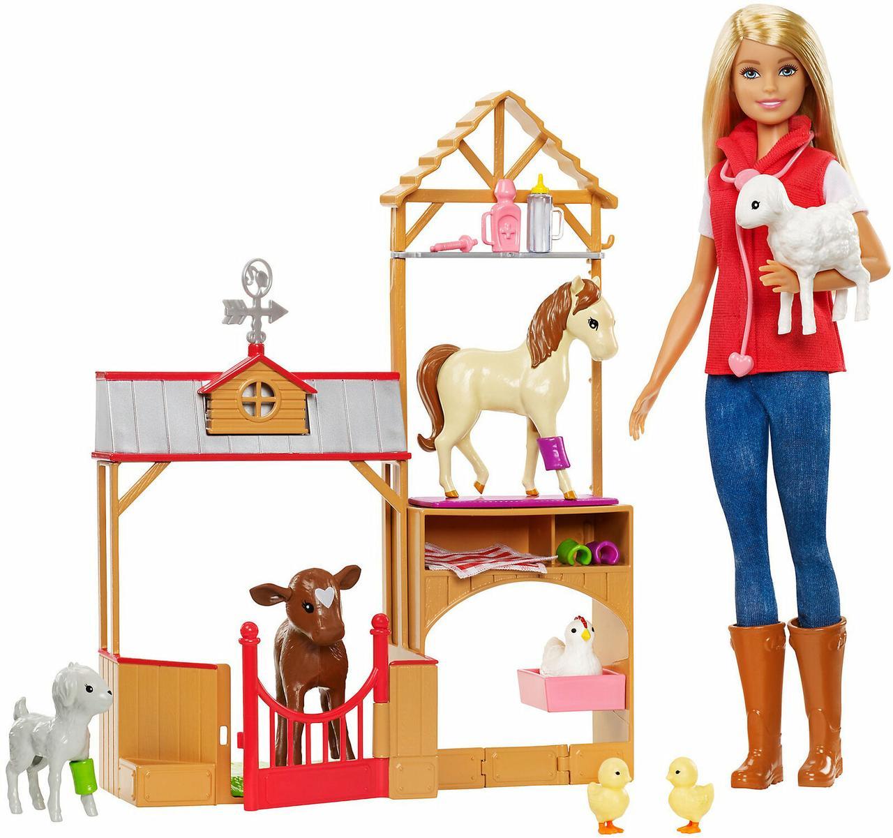 Barbie Кукла Барби Сладкий фруктовый сад и ветеринарный набор GCK86 Club Chelsea Doll and Playset