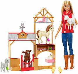Barbie Лялька Барбі Солодкий фруктовий сад та ветеринарний набір GCK86 Club Chelsea Doll and Playset