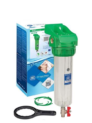 """Корпус фільтра промивної антибактеріальний для холодної води 10"""" AquaFilter FHPR34-3V_R-AB 3/4"""" комплект, фото 2"""