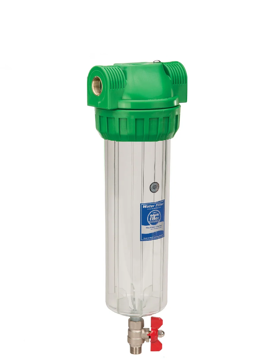"""Корпус фильтра промывной антибактериальный для холодной воды 10"""" AquaFilter FHPR12-3VS-AB 1/2"""""""