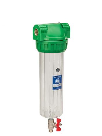 """Корпус фильтра промывной антибактериальный для холодной воды 10"""" AquaFilter FHPR12-3VS-AB 1/2"""", фото 2"""