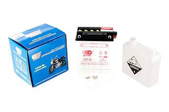 Мото аккумулятор АКБ (Аккумулятор на скутер, мотоцикл, мопед) 12В (V) 5А заливной (высокий) (119x60x128,