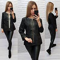 Жакет  /пиджак  ветровка больших размеров на подкладе , модель S1096 цвет чёрный
