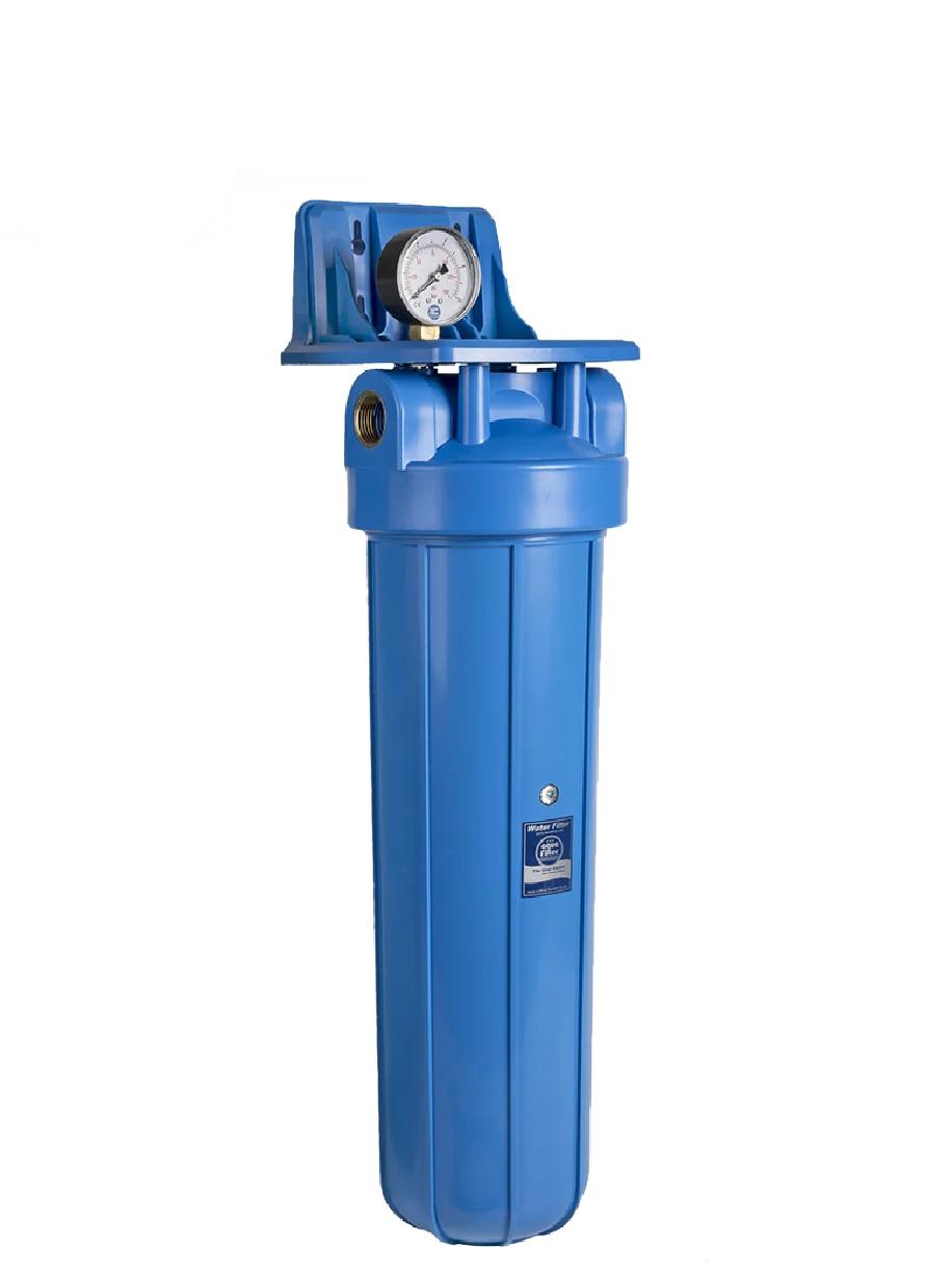 """Корпус фильтра для холодной воды Big Blue 20"""" AquaFilter FH20B1-B-WB 1"""" синяя колба комплект"""