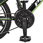 Спортивный велосипед колеса 20 дюймов PROFI G20FIFA A20.2 черно-зеленый, фото 4
